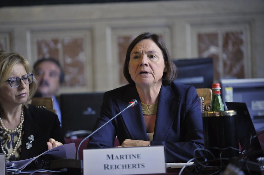 """Martine Reicherts: """"L'Europe se construit crise après crise, malheureusement pour nous"""""""