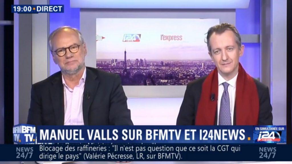 Laurent Joffrin et Christophe Barbier sur les chaînes de Patrick Drahi