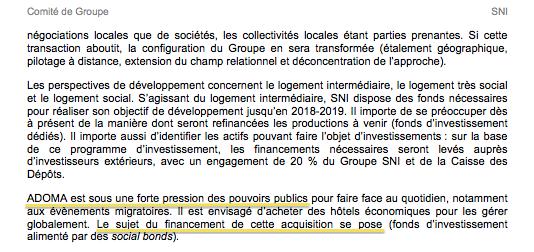 Intervention d'André Yché au comité central d'entreprise de la SNI, en juin 2016