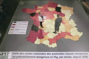 """Stéphane LeFoll sur la carte des pesticides dans """"Cash Investigation"""" le 2février 2016 (capture d'écran)"""