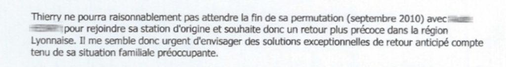 Extrait de la lettre de juin 2008 de RFO Guadeloupe à France3 Lyon