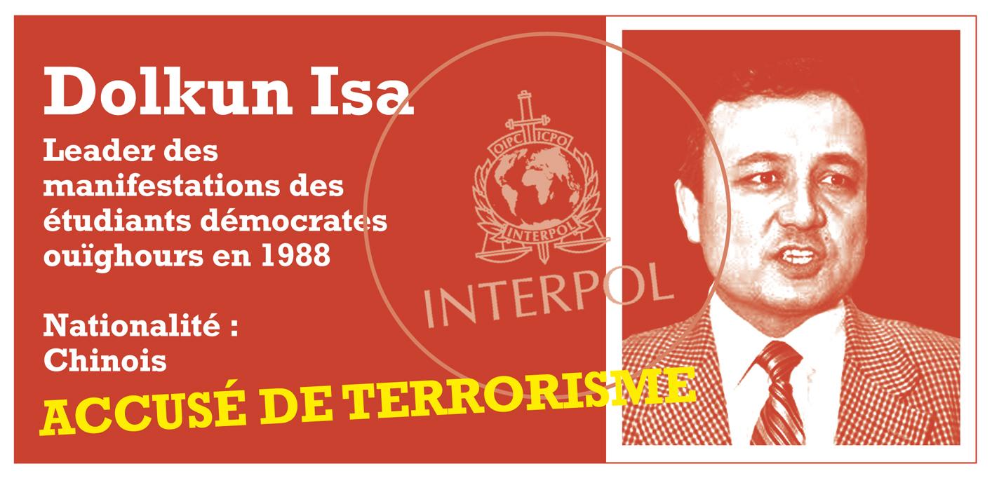 """Notices rouges: Dolkun Isa, militant pacifiste ouïghour traqué comme """"terroriste"""""""